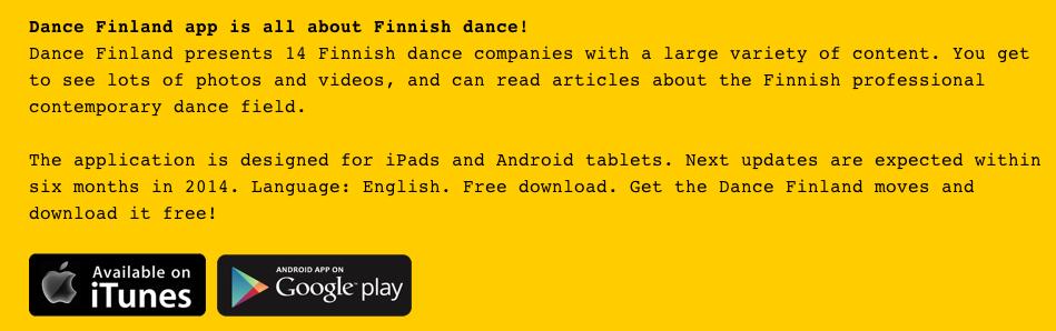 Dance Finland app